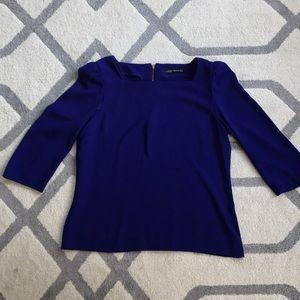Cobalt blue Zara blouse, size M